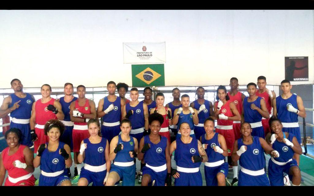 Atletas se preparam para grandes competições internacionais em base de treinamento
