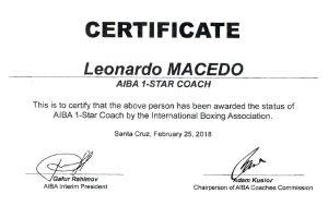 Treinadores da CBBoxe recebem certificação internacional
