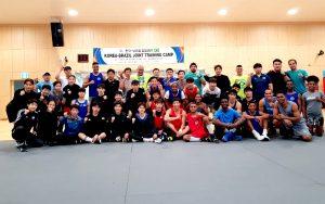 Brasileiros treinam forte na Coreia do Sul