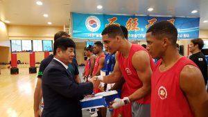 treinamento em conjunto na Coreia do Sul