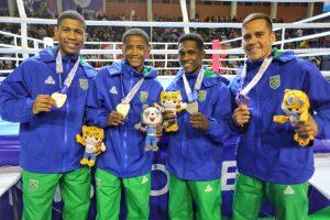 Dois Ouros, uma Prata e três Bronzes nos Jogos Sul-Americanos