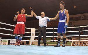 Foto do ringue onde o brasil conquistou três belíssimas vitórias na IX Copa Cinturão de Ouro