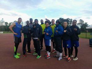 Equipe treinando