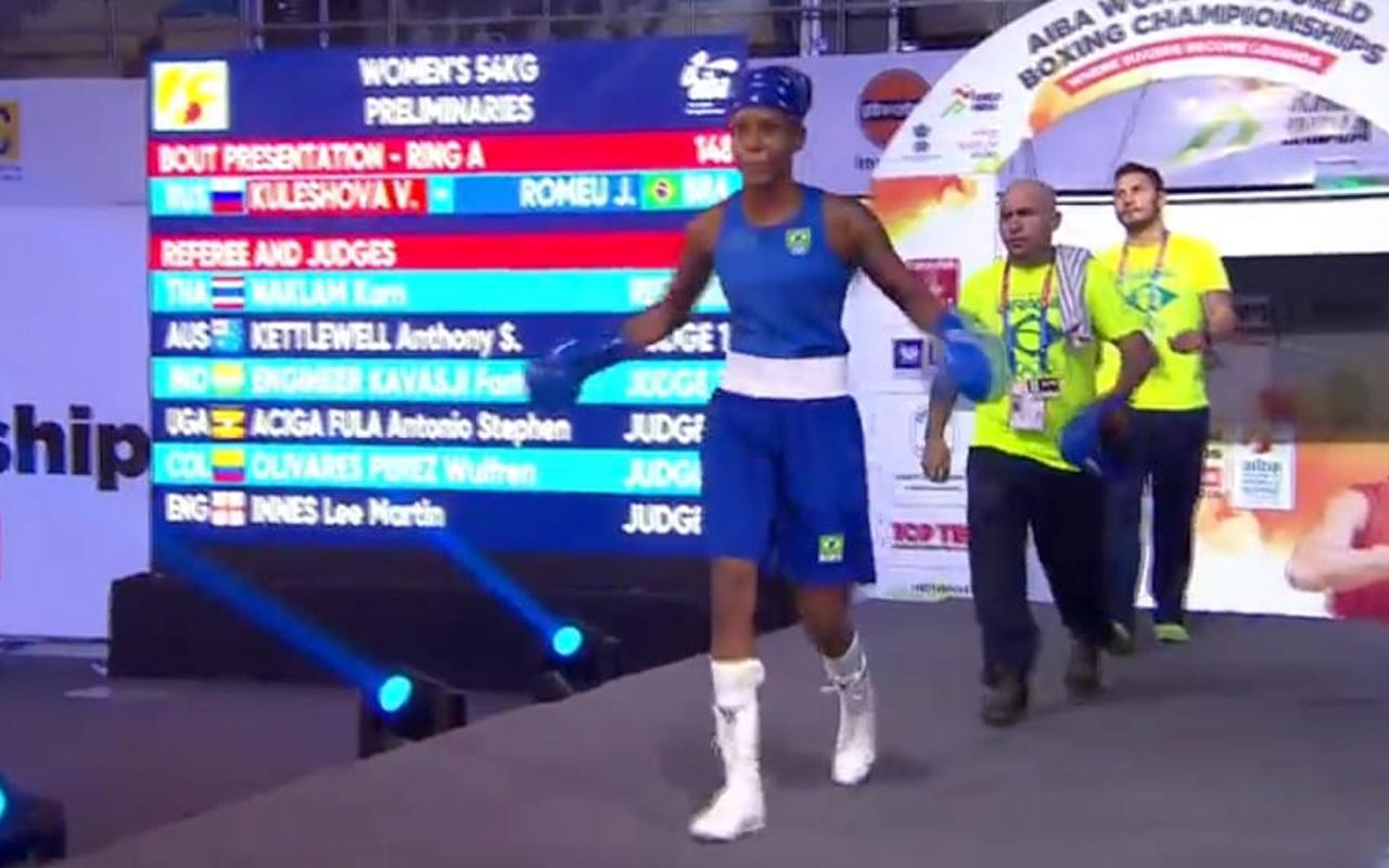 Imagem do post Jucielen passa para as quartas de finais do Mundial Feminino de Boxe
